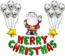 WSKRNGEY Party Luftballons,Santa Anzug Weihnachten