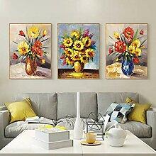 WSNDGWS Salon-Gemälde, Kombination Triptych,