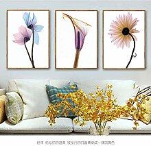 WSNDGWS Wandgemalde, modern, Blume, Zweig,