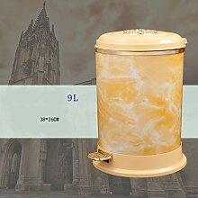 WSQ Treteimer Mülleimer mit Deckel runde Plastik