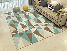 WSSF- Teppiche Europäische Rechteck Geometrische Teppiche Moderne Minimalistische Wohnzimmer Tee Tisch Bereich Teppich Haushalt Sofa Schlafzimmer Bedside Blanket Nach Maß ( größe : 140*200cm )