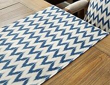 WSSF- Tischläufer Nordische Mode Geometrische Baumwolle Und Leinen Tischläufer Einfache Hotel Bett Flagge Wohnzimmer TV Schrank Tee Tischtuch Tisch Flagge Nach Maß (Farbe, größe Optional) ( Farbe : #2 , größe : 35*220cm )