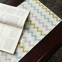 WSSF- Tischläufer Nordische Mode Geometrische Baumwolle Und Leinen Tischläufer Einfache Hotel Bett Flagge Wohnzimmer TV Schrank Tee Tischtuch Tisch Flagge Nach Maß (Farbe, größe Optional) ( Farbe : #3 , größe : 35*160cm )