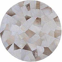 WSX Z Rindsleder Teppich | Runder Teppich für