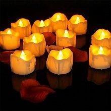 WSXMN Nachtlicht 12Pieces Candle Light Teelichter