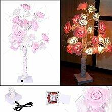 WSXMN Nachtlicht Rose Topf Schreibtischlampe