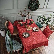 WSYK Weihnachten Rot Bronzing Tischdecke Baumwolle