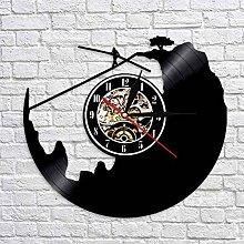 WTACK Vinyl Lp Rekord Wanduhr Zeitmesser 3D