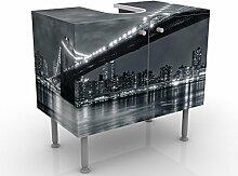WTD 54007 Design Waschtisch Manhattan Mysteries Waschbeckenunterschrank