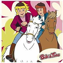 WTD mantiburi FensterBild Bibi und Tina auf Amadeus und Sabrina Fenster Tattoos 30x30cm/nicht spiegel-/seitenverkehr