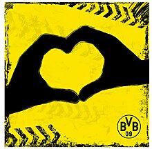 WTD mantiburi FensterBild Borussia Dortmund - Graffiti gelb BVB 14x14cm/nicht spiegel-/seitenverkehr