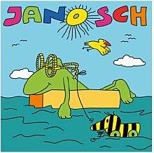 WTD mantiburi FensterBild Janosch - Frosch am Meer Fenster Tattoos 122x122cm/nicht spiegel-/seitenverkehr
