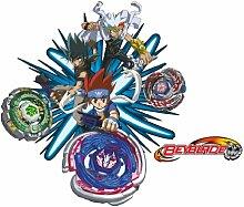 WTD mantiburi FensterSticker Beyblade - Metal Fury Gingka Kyoya Ryuga Anime 80x68cm/nicht spiegel-/seitenverkehr