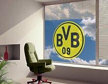 WTD mantiburi FensterSticker Borussia Dortmund - Emblem BVB 75x75cm/nicht spiegel-/seitenverkehr