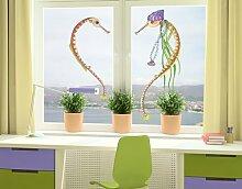 WTD mantiburi FensterSticker No.695 Die kleine Seenadel© Herz 75x95cm Fensterdekoration 75x95cm/nicht spiegel-/seitenverkehr