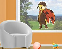 WTD mantiburi FensterSticker No.708 Marienkäfer Kurt 68x100cm Fensterdekoration 68x100cm/nicht spiegel-/seitenverkehr