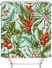 WTL Duschvorhang Tropische Pflanzen Muster