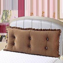 WTL Kissen Bedside Big Cushions Korean Double Bed Back Pad Bedside Weiche Tasche Bett Kissen Large ( Farbe : B , größe : 15cm )