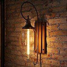 WTL Lighting Europäische-Stil kreative Outdoor-Wandleuchte, Villa im freien Wandleuchte, wasserdichte Innenhof Lampe Gang Balkon Lampe, High-Transmission Glas Lampenschirm