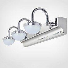 WTL Lighting LED Edelstahl Acryl Spiegel-Front-Spiegel-9W, 460MM