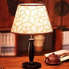 WTL Lighting Moderne minimalistische Mode Persönlichkeit Thema Woven Holzton Lampe Kreative Schlafzimmer Nachttischlampe Hochzeit Dekoration Schreibtischlampe