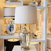 WTL Lighting Transparente Glasvasen Tischlampe Moderne Wohnzimmer Studie Schlafzimmer-Dekoration Tischlampe Schreibtischlampe