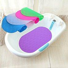 WTL Säuglinge und Junge Kinder Nicht Beleg-Dusche-Bad-Matten-Wasser-Bereich Badezimmer-sicherer Teppich, Bad-Matten Schnell trockener Wolldecke ( farbe : Lila , größe : 38.5*68.5cm )