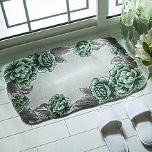 WTL Teppich Anti-Rutsch Matratze ( Farbe : Grün , größe : 78*115CM )