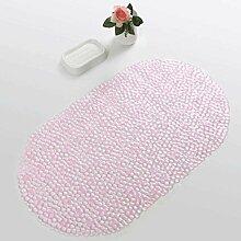 WTL Teppich Badezimmer Anti-Rutsch-Matte WC Duschbad Badematte Bad Massage-Matte mit Saugnäpfen Ottomans Matratzen ( Farbe : Pink )