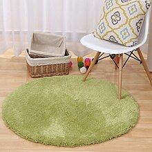 WTL Teppich Dicker Umwelermatten Eingangshalle Teppich Runde Solid Color Teppich ( Farbe : A , größe : 120cm )