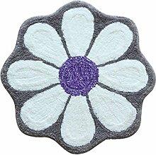 WTL Teppich European Cartoon-Blau Hellgrün Blumen Mats Fußmatte Absorbent Anti-Rutsch Badematte Schlafzimmer Teppich ( Farbe : Grau )