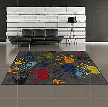 WTL Teppich Fingerabdrücke Kreatives Kind Kunst Teppich Bedside Bay Fenster Persönlichkeit Wohnzimmer Schlafzimmer Teppich ( Farbe : # 2 , größe : 80 Cm X 120 Cm )