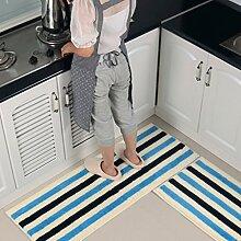 WTL Teppich Matratze Matratze Küchenmatten Badematten Stretch von Haushalt Kissen Badematten ( Farbe : I , größe : 45*60cm+45*120 )