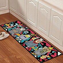 WTL Teppich Matratze Matratze Küchenmatten Badematten Stretch von Haushalt Kissen Badematten ( Farbe : A , größe : 50*160cm )