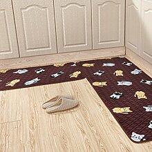 WTL Teppich Matratze Matratze Küchenmatten Badematten Stretch von Haushalt Kissen Badematten ( Farbe : B , größe : 50*80 cm )