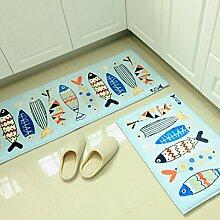 WTL Teppich Matratze Matratze Türpolsterung Fußmatten Küchenmatten Wasserdichte Matten Foyer Matten Toilettenmatten ( größe : 50*80cm )