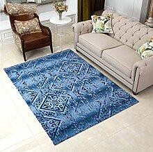 WTL Teppich Moderne Amerikanische Art Wohnzimmer Teppich Geometrisches Muster Teppich Schlafzimmer Teppich Sofa Teppich Couchtisch Mat (Farbe : # 4, Größe : 160CM × 230CM)