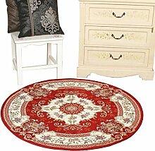 WTL Teppich Runder Teppich Kontinentaler Teppichboden Schlafzimmer Make-up Hocker Rundes Pad Schaukelstuhl Runder Teppich Computer Stuhlkissen ( Farbe : B , größe : 90*90CM round )