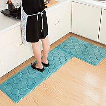 WTL Teppich Teppich Tür Küche Badezimmer mit Schlafzimmer Sliver Pad Kind Badezimmer Türmatten Badematten ( Farbe : A , größe : 40*60+40*120cm )