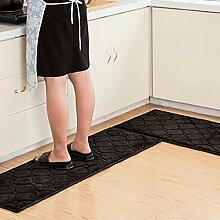 WTL Teppich Teppich Tür Küche Badezimmer mit Schlafzimmer Sliver Pad Kind Badezimmer Türmatten Badematten ( Farbe : E , größe : 50*80+40*120 )