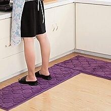 WTL Teppich Teppich Tür Küche Badezimmer mit Schlafzimmer Sliver Pad Kind Badezimmer Türmatten Badematten ( Farbe : D , größe : 40*60+40*120cm )