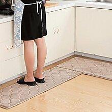 WTL Teppich Teppich Tür Küche Badezimmer mit Schlafzimmer Sliver Pad Kind Badezimmer Türmatten Badematten ( Farbe : B , größe : 50*80+40*120 )