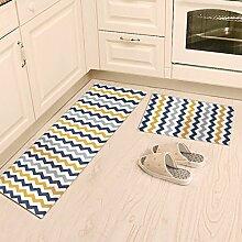 WTL Teppich Teppich Tür Küche Badezimmer mit Schlafzimmer Sliver Pad Kind Badezimmer Türmatten Badematten ( Farbe : A , größe : 40 x 60 cm )