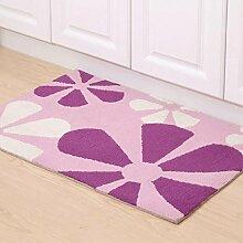 WTL Teppich Wohnzimmer Matte Tür Teppich Matratze Badezimmer Wasserdichte Matte Küche Schlafzimmer Badezimmer Boden Matten ( Farbe : A )