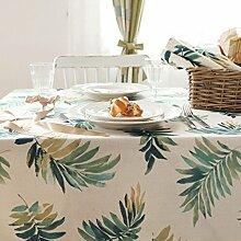 WTL tischdecke Amerikanische frische tropische Pflanze Druck Tischdecke Tischdecke Couchtisch Tuch TV Schrank Abdeckung Stoff ( größe : 130*180cm )