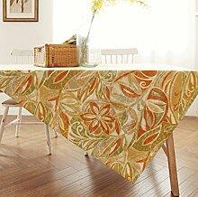 WTL tischdecke Amerikanische pastorale Dorf Druck Tischdecke westlichen Tischdecke Couchtisch Tuch TV Schrank Deckel Tuch ( Farbe : Orange , größe : 100*160cm )