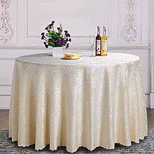 WTL tischdecke Hotel Runder Tisch Tuch Garten Restaurant Hotel Tisch Tuch Wohnzimmer Kaffee Cremig-weiße Tischdecke ( größe : 240cm )