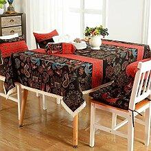 WTL tischdecke Rectangle Leinen Esstisch Staubdicht TV Schrank Klimaanlage Kühlschrank Decke Tuch Tischdecke ( größe : 140*200cm )
