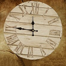 WTL wall clock Buntes Leben Crafts Mittelmeer Wohnzimmer Retro Stereoscopic Home Decoration kreative Wanduhr-14in ( MUSTER : H )