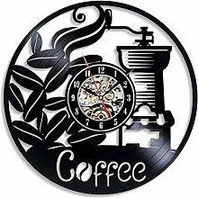 WTTA Retro CD Uhr Wanduhr Cafe Kaffee Vinyl